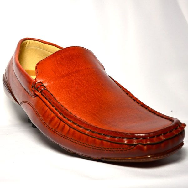 Leather Laceless Shoe