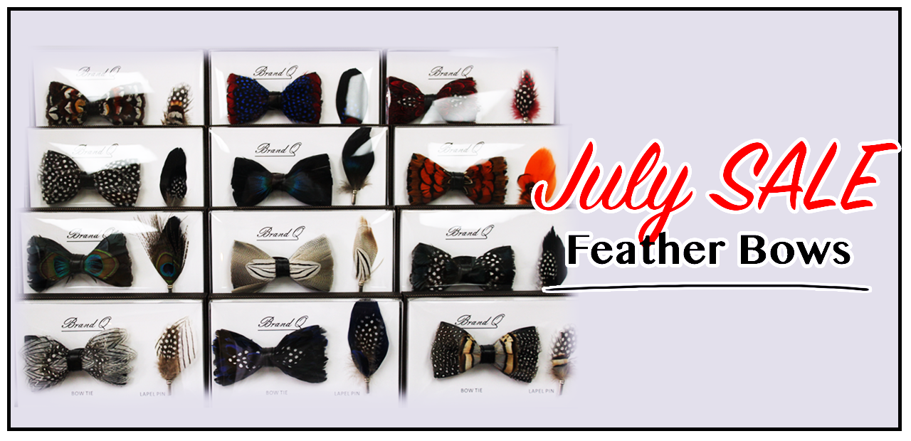 July Feather Bow tie sale