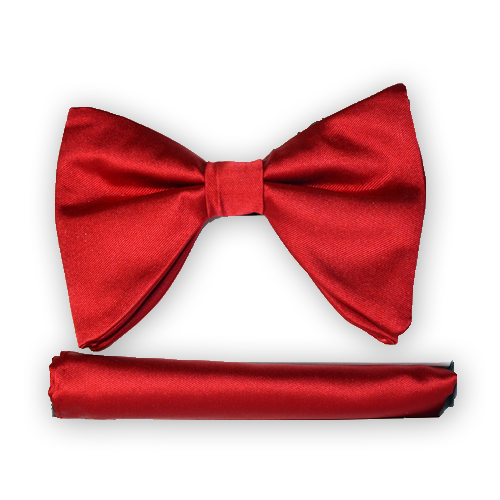 Red Long Bow Tie