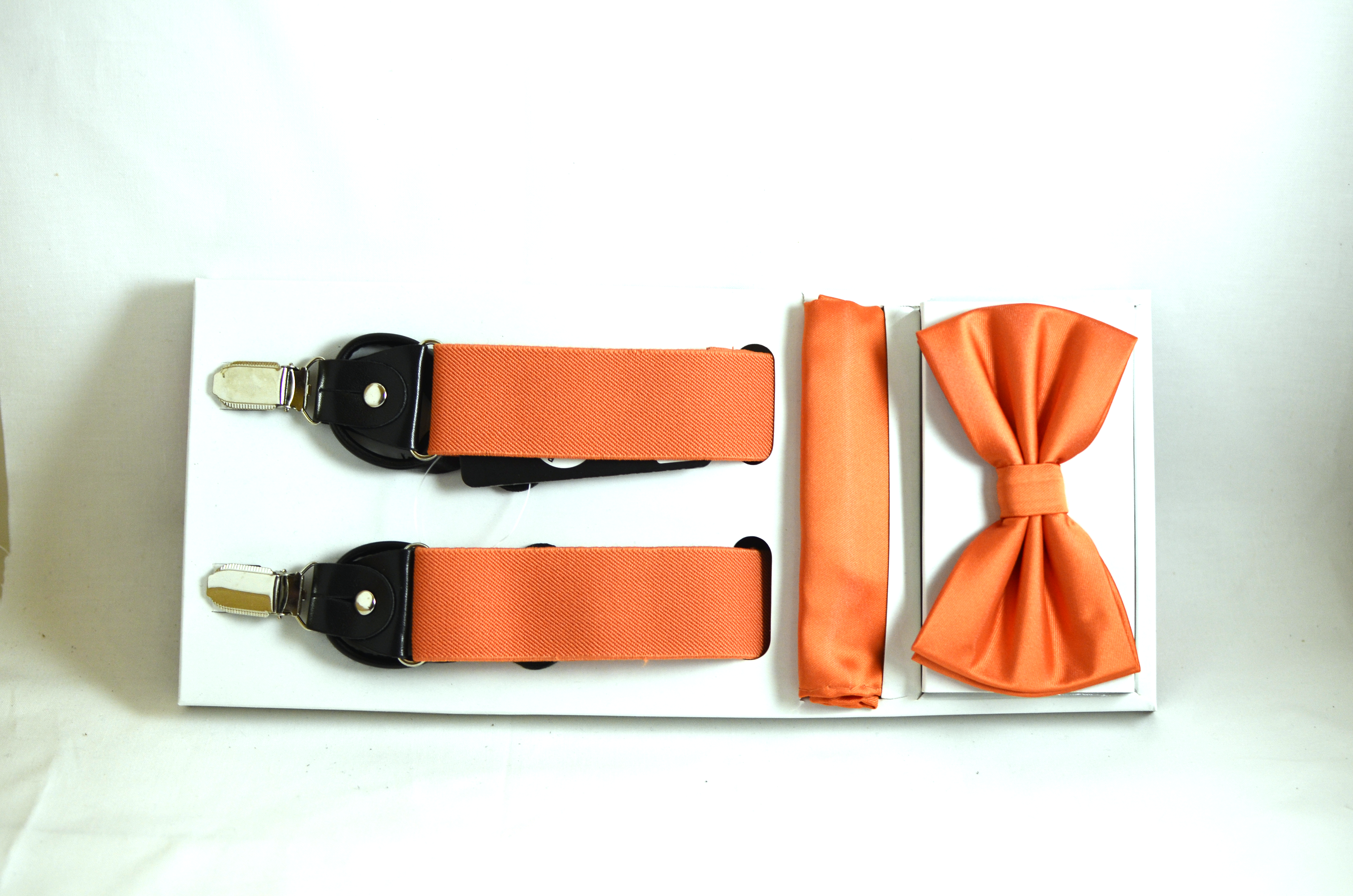 Orange Bow and Suspender Set