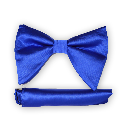 Blue Long Bow Tie