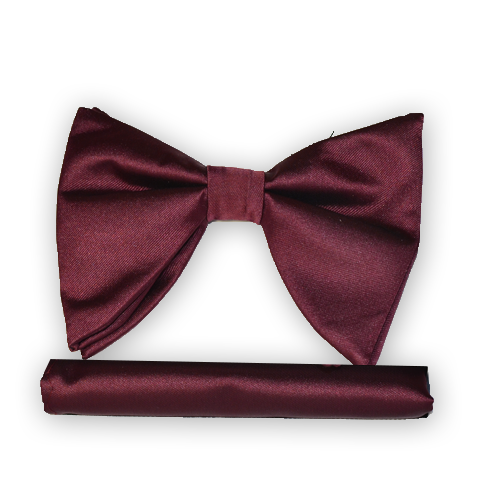 Burgundy Long Bow Tie